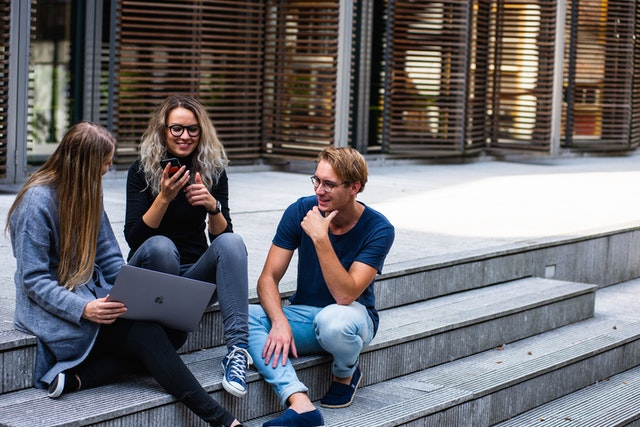 Three students working on their task by Buro Millennial (Pexels.com)